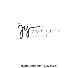 J Y Initial handwriting logo