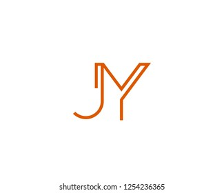 J Y Initial logo template vector