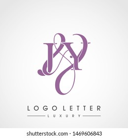 J & Y / JY logo luxury initial vector mark template.