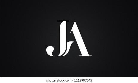 JA Letter Logo Design Template Vector