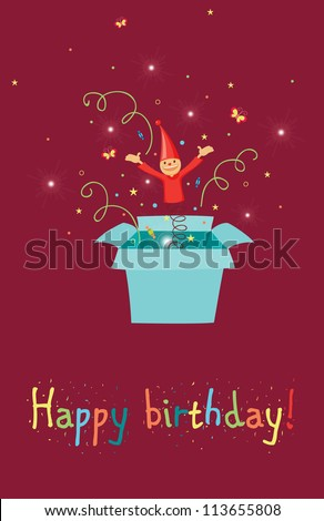 Jack Box Birthday Card Stock Vector (Royalty Free) 113655808 ...