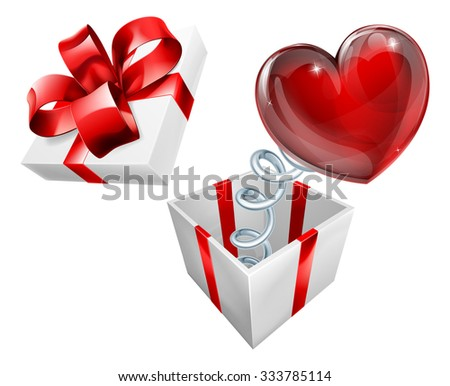 a jack in the box with a heart sign symbol jumping out on a spring - Jack In The Box Open Christmas Day