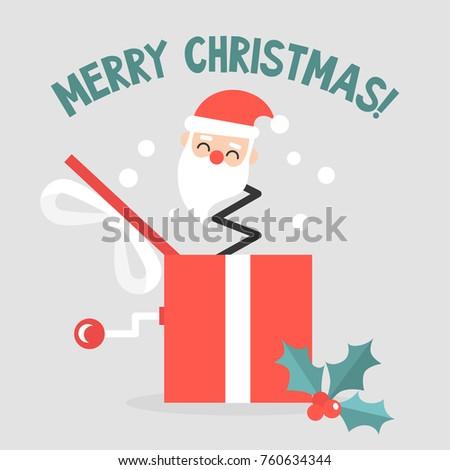 Jack Box Toy Christmas Theme Merry Stock Vector (Royalty Free ...