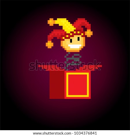 Jack Box Toy Springing Out Box Stock Vector Royalty Free