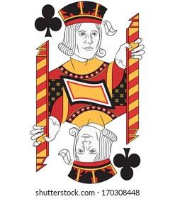 Jack of Clubs without card. Original design