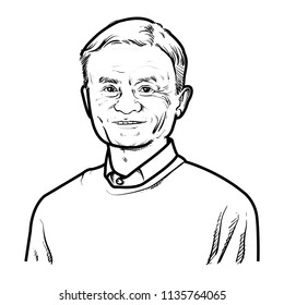 Jack ma vector illustration isolated, CEO of Alibaba, Portrait, Chinese business magnate, Investor and Philanthropist