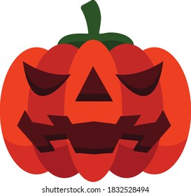 Jack O Latern flat illustration
