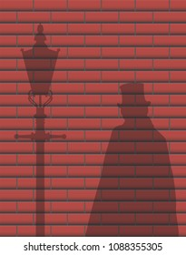 A Jack The Ripper Brick Wall Shadow Design Background
