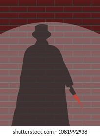 A Jack The Ripper Wall Spotlight Shadow Design Background
