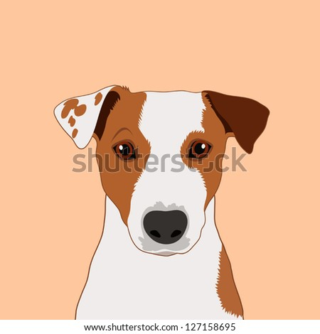 Immagine vettoriale a tema jack russell terrier buddy dog royalty