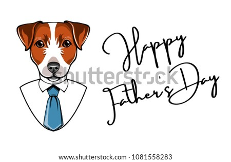 efecdfab0 Jack Russell Terrier Fathers Day Greeting Stock Vector (Royalty Free ...