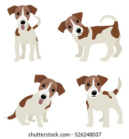 Jack Russell Terrier. Vector Illustration of a dog