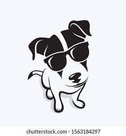 Jack Russell Terrier wearing sunglasses - vector illustration