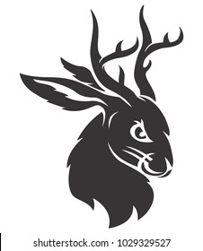 Jackalope black head