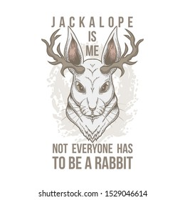Jackalope Head vector illustration for your company or brand