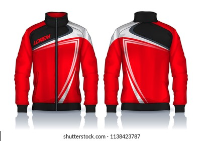 Jacket Design,Sportswear Track front and back view.