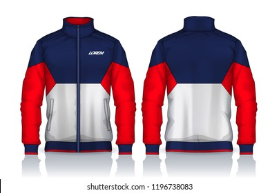 Jacket Design,Sportswear Track front and back view
