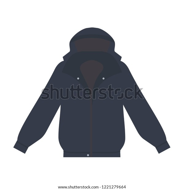 Jacket Icon Flat Style Isolated Vector Stock Vector Royalty Free 1221279664