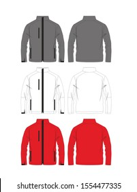 Jacket Mens Fashion Flat Templates