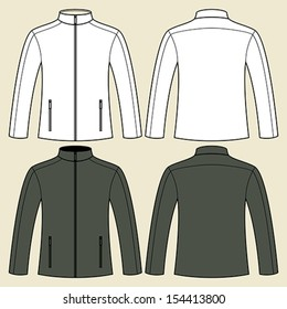 Jacket template in black and white - front & back