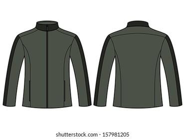 Jacket template isolated on white background