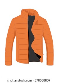Jacket winter realistic vector illustration isolated