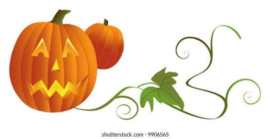 Jack'o lantern ready for Halloween - Vector version