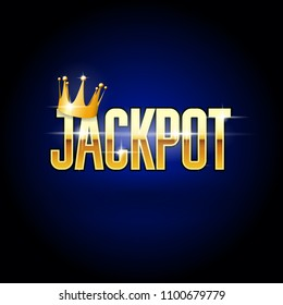 Jackpot header with crown - casino and win background