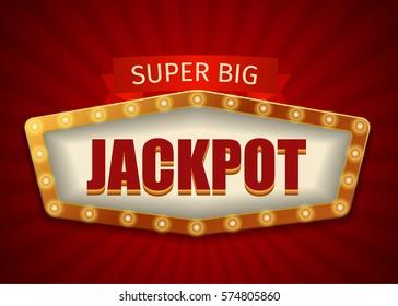Jackpot Lighting Sign Frame