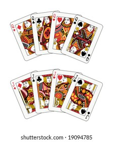 jacks and queens poker (also available in raster format)