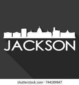 Jackson Flat Icon Skyline Silhouette Design City Vector Art Famous Buildings