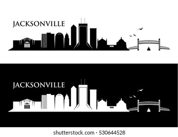 Jacksonville skyline - vector illustration