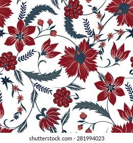 Jacobean Print Pattern Seamless
