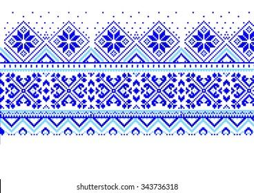 jacquard fair isle blue and white