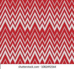 Jacquard Fairisle. Seamless Geometric zig zag Knitting Pattern