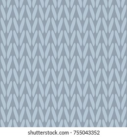 Jacquard knitting pattern micro chevron zig zag sweater texture. Simple woven stripes all over design. Minimal monochrome vertical lines textured motif. Cozy winter print block. Vector illustration.