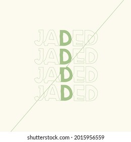 Jaded graphic design. Capital Letter for Monograms and Logos. Beautiful Filigree Font. trending abstract text style vector.