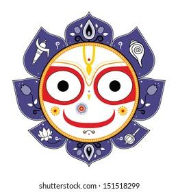 Jagannath. Indian God of the Universe. Lord Jagannatha.