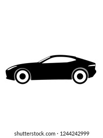 Jaguar F type English car sign vector