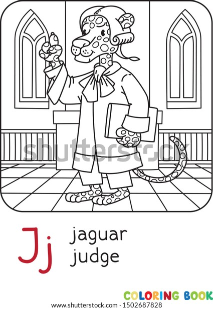 Jaguar Judge Abc Coloring Book Alphabet Stock Vector Royalty Free 1502687828