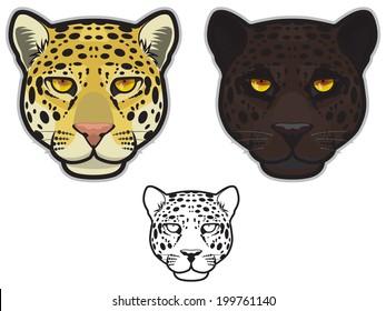 Jaguar or Leopard Faces