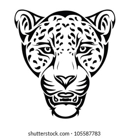 Jaguar tattoo - vector illustration