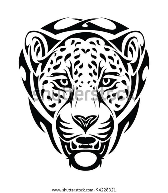 7ad2425f7fd7a Jaguar Tribal Head Isolated Tattoo Stock Vector (Royalty Free) 94228321