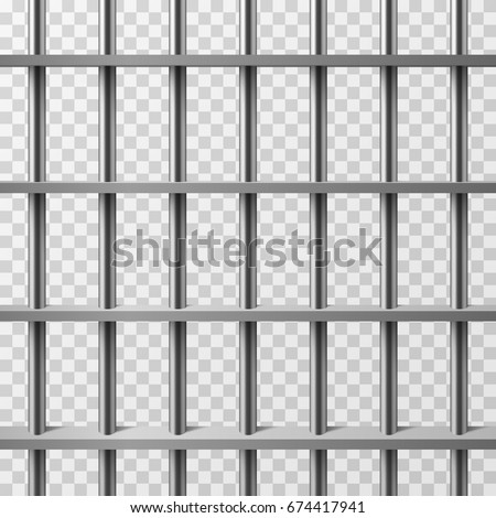 Jail Cell Bars Isolated Prison Vector Stock Vector (Royalty Free ...