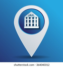 jail prison icon. symbol of justice. police icon