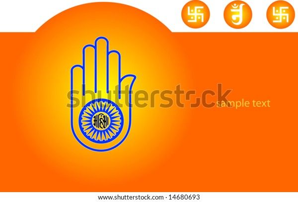 Jainism Abstract background with space for text