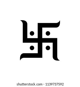 Jainism Hinduim Swastika sign icon. Element of religion sign icon for mobile concept and web apps. Detailed Jainism Hinduim Swastika icon can be used for web and mobile on white background