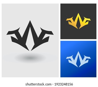 JAJ CAC A initial based Logo Design in Gradient Colors. Creative Modern company logo. Symmetry shape with Letters Vector Icon Logo idea Illustration.