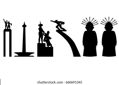 Jakarta Icon In Silhouette