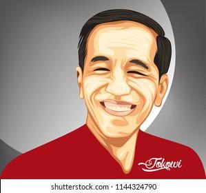Jakarta, Indonesia 29 July 2018: Joko Widodo a President of Republic Indonesia